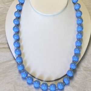Jewelry - Vtg Light Blue Spring Summer Fashion Bead Necklace